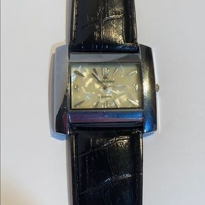 Accessories - Black Leather Watch...never worn...needs battery